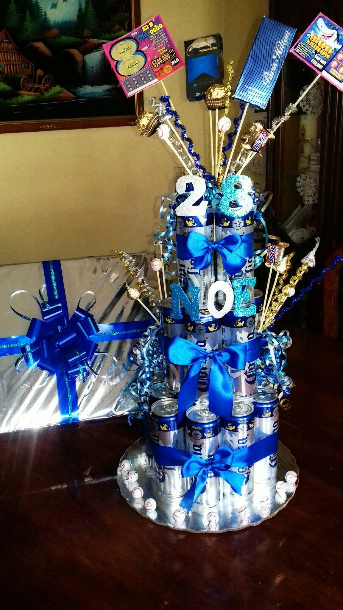 Pastel de cervezas beer cake regalo perfecto for Decoracion de cumpleanos adultos
