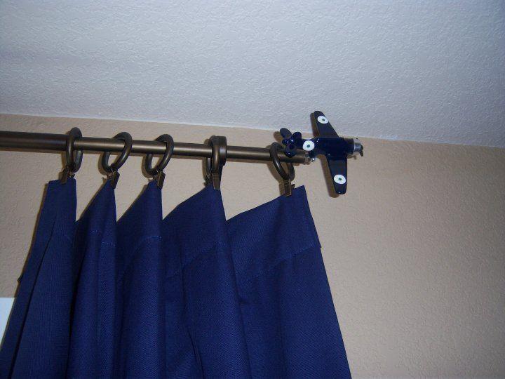 potterybarn airplane curtain rods http