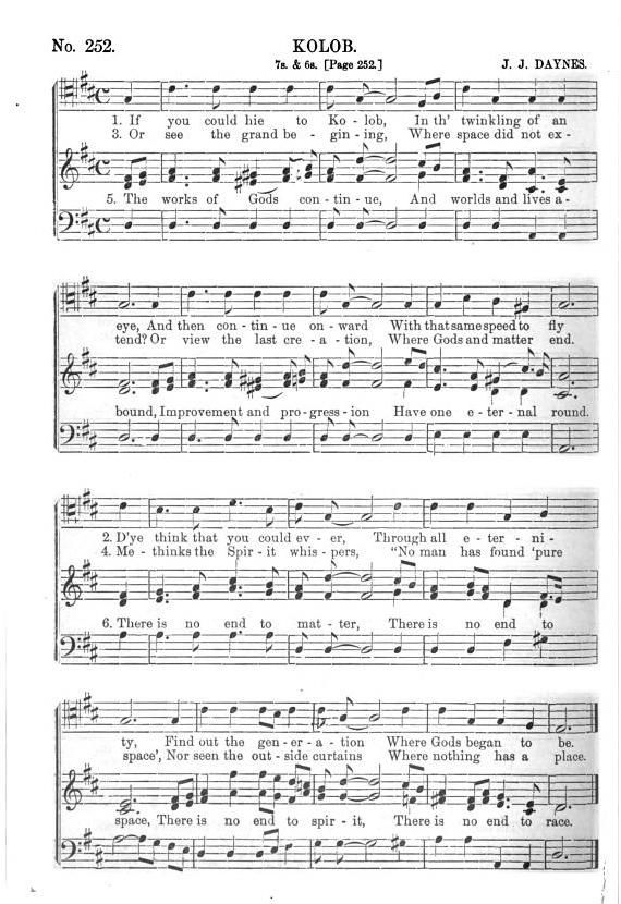 If You Could Hie to Kolob (by Old LDS Hymnals -- SAB) Free