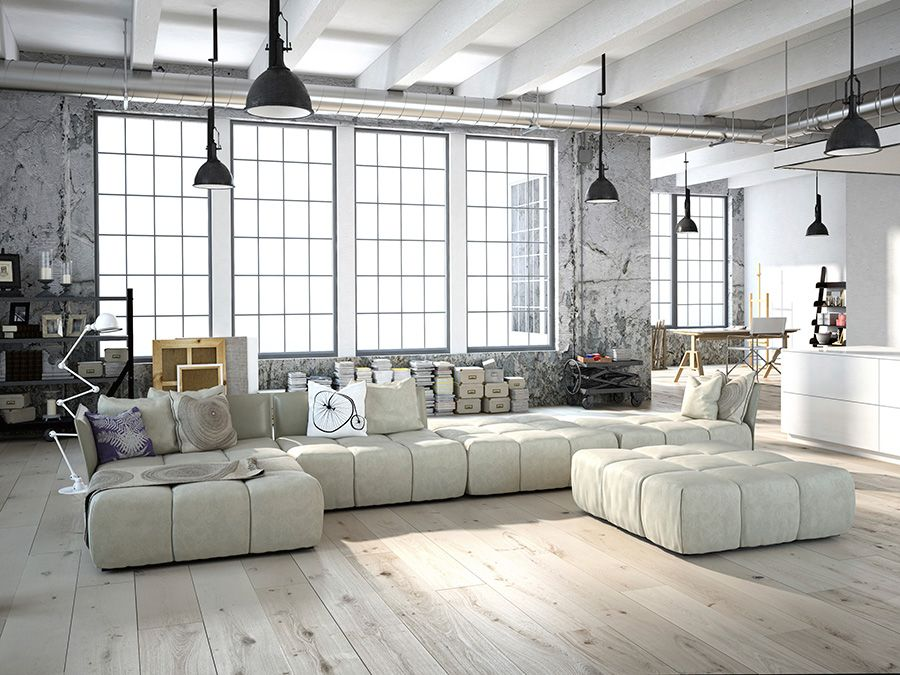 Ceiling Fan Design Industrial Chic Décor Casablanca - industrial vintage wohnhaus loft stil