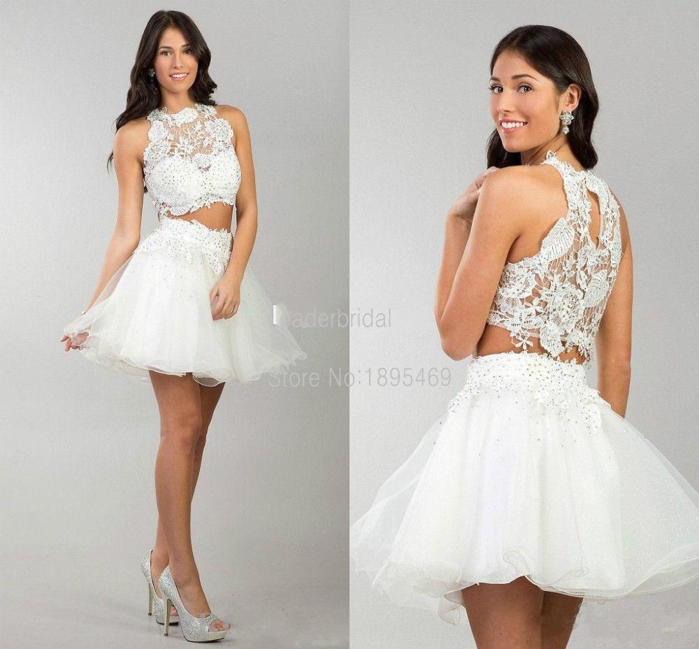 New arrival vestidos de festa white tulle and lace applique beaded