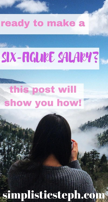 How Can I Grow My Income How To Make A Six Figure Salary Money Finances Salary Career