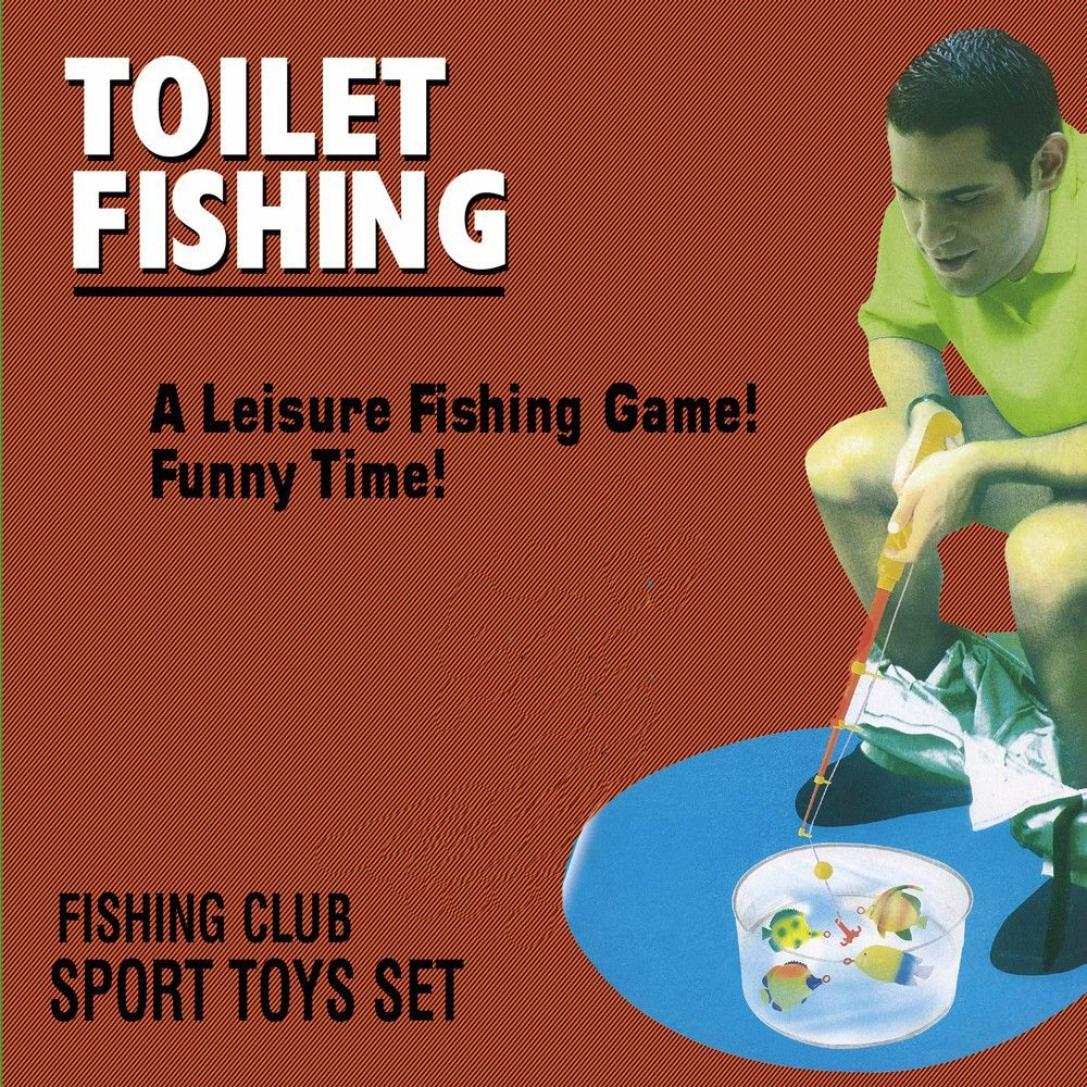Toilet Bathroom Fishing Game Funny Gadget Funny Toys Prank Perfect