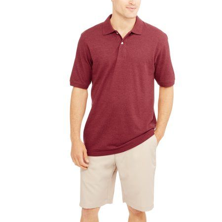 Faded Glory Men's Short Sleeve Polo, Size: Medium, Red