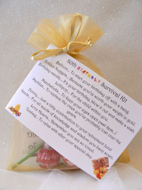60th 70th 80th Birthday Survival Kit Novelty Gift And Card Fun Keepsake
