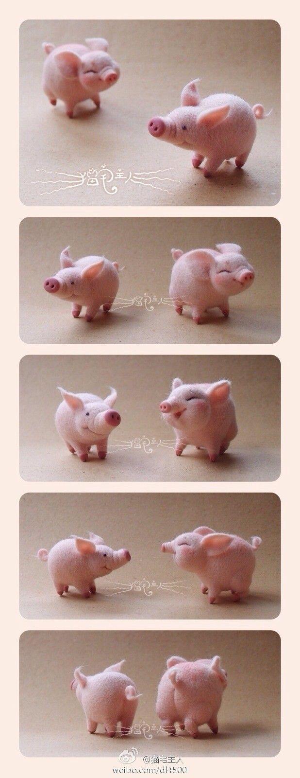 Wool Felt Pig