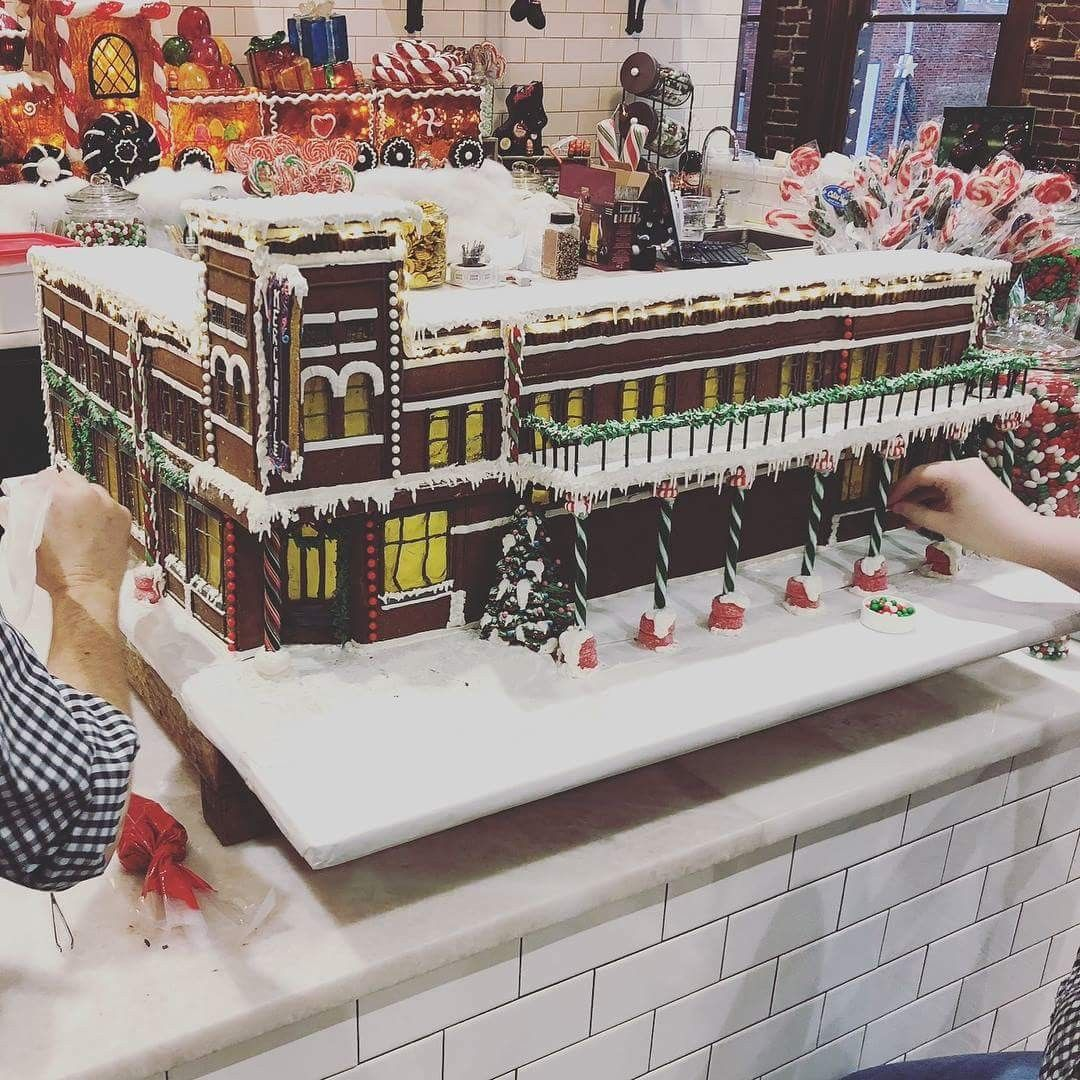 Gingerbread house at the merc gingerbread house