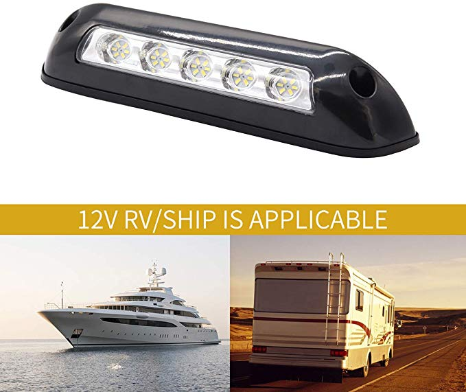 Gloaso Rv 12v Dc 2 6w Led Awning Lights Bar Porch Lamp 6000k White For Caravan Boat Marine Trucks Motor Home Rv Cam Motor Home Camping Awning Lights Porch Lamp