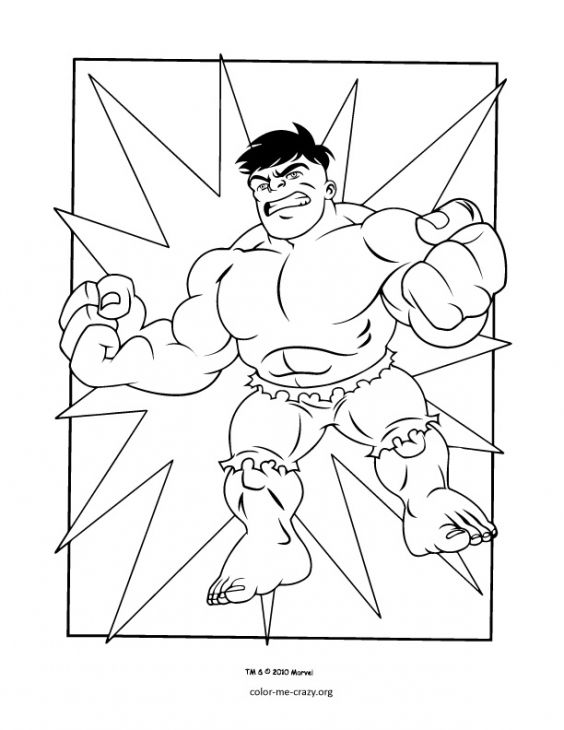 Free Hulk From Super Hero Squad Coloring Page | Coloring Pages ...