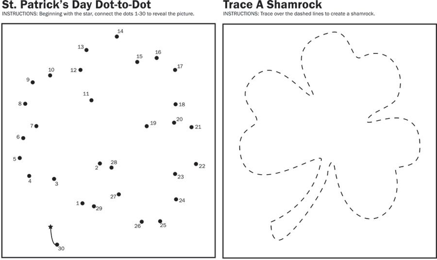 Shamrock Connect The Dots
