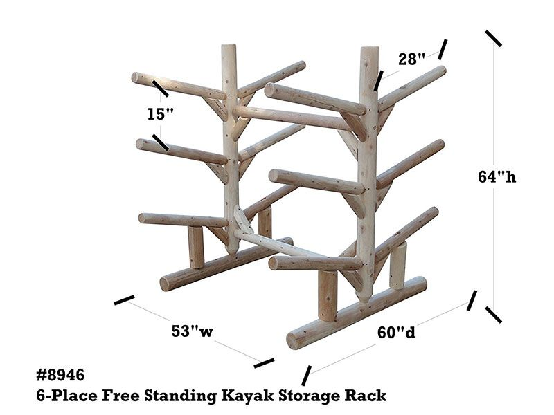 6 Place Freestanding Kayak And Sup Storage Rack Kayak Storage Kayak Storage Rack Kayaking