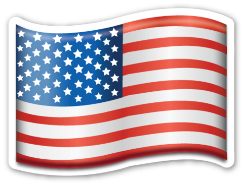 Flag of USA | EmojiStickers.com (With images) | American flag ...