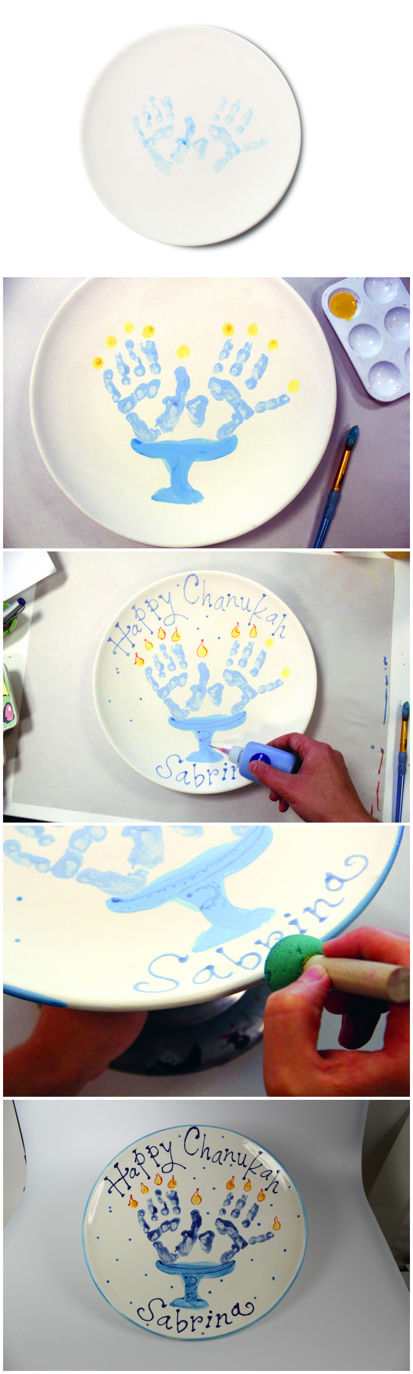 Great and Creative way to decorate a plate - full instructions at all our Make Meaning locations!