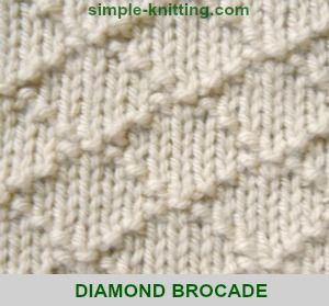 Diamond Brocade Stitch Pattern Knit Amp Crochet Stitches Amp Tips Pinterest Diamond Stitch