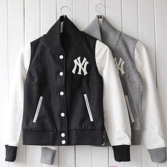 NY Women's Black Varsity Baseball Jacket Sale | Women's Jacket ...