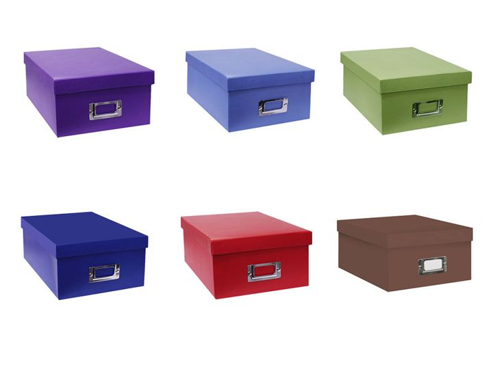 Acid Free Boxes For 4x6 Or 4x7   Pioneer B1 S Photo Storage Boxes   Solid  Colors