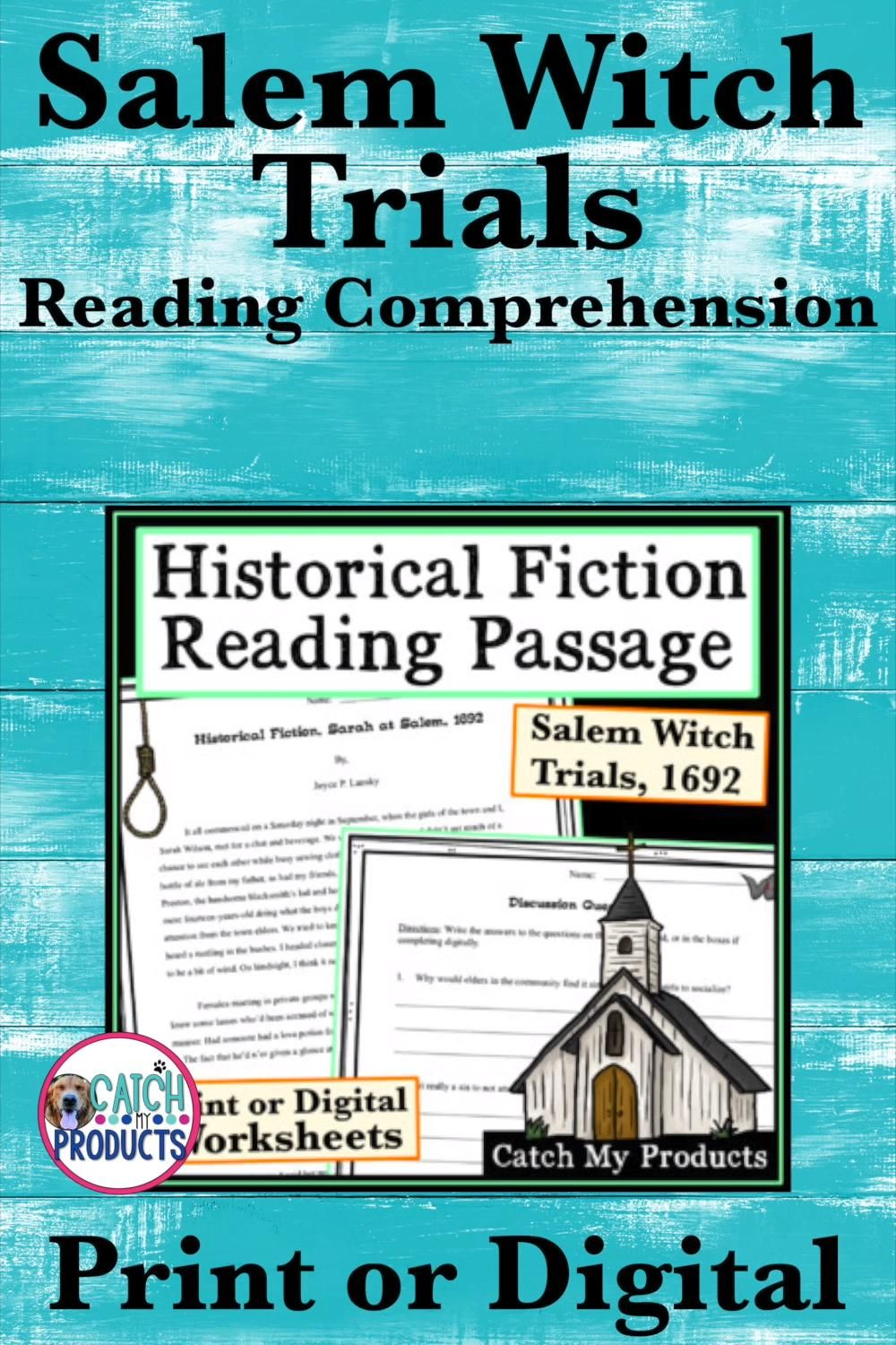 Historical Fiction Reading Comprehension For Middle School Salem Witch Trials Video Video In 2021 Middle School Reading Comprehension Reading Comprehension Teaching Close Reading [ 1500 x 1000 Pixel ]