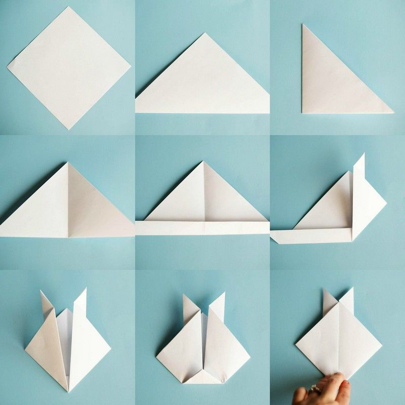 origami tiere basteln anleitung f r hase katze hund alles aus papier falten. Black Bedroom Furniture Sets. Home Design Ideas