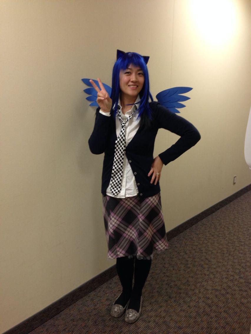 Blue hair anime fashion halloween costumes dress up