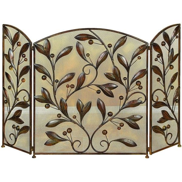 Studio 350 Floral Patterned Metal Fire Screen ($77) ❤ liked on