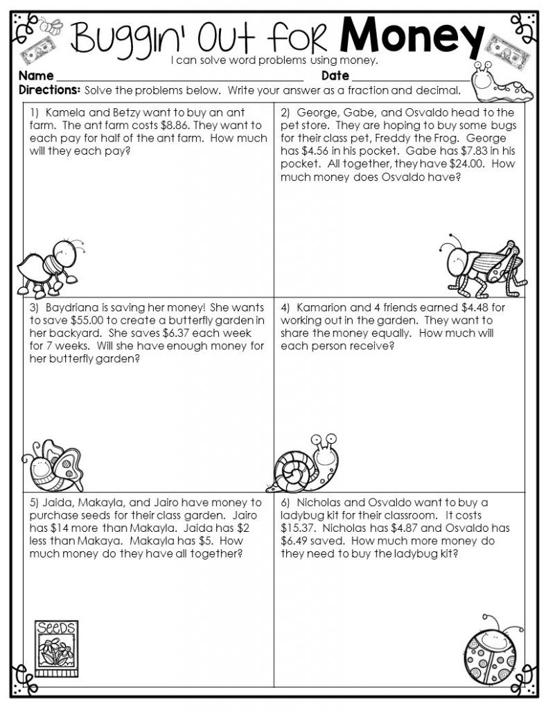 2nd Grade Math Word Problems Best Coloring Pages For Kids Math Word Problems Word Problem Worksheets Math Words