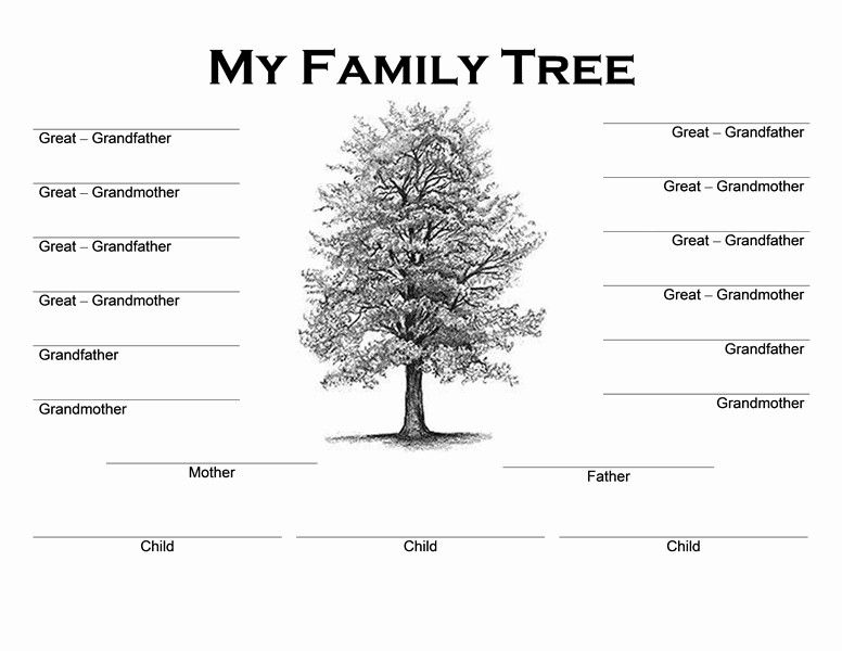 30 Free Printable Family Tree Template In 2020 Blank Family Tree