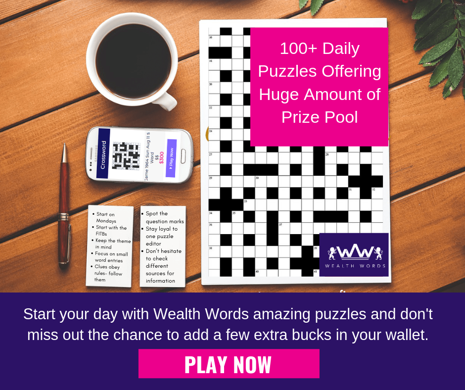 100 Puzzles Online Daily Offering Big Money Have A Cup Of Coffee Take Notes On Crosswords And Get Started Now Onlinecrossword Crosswordpuzzlesonline Onl En 2020