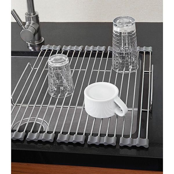 Our Foldable Drying Rack makes short work of drying dishes