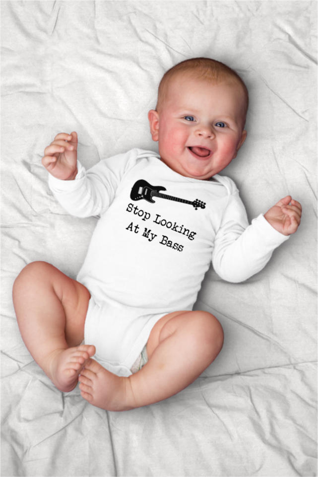 Infant I Love Bass Players Onesies Outfits