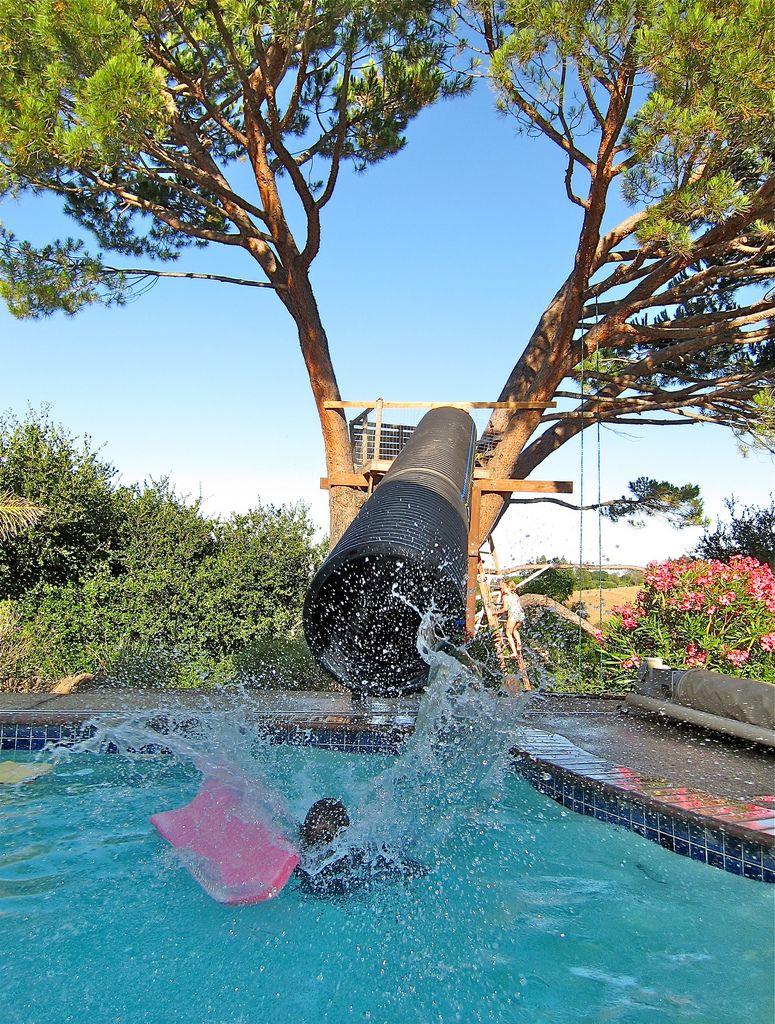 Home Brew Water Slide Diy Swimming Pool Pool Slide Diy Water