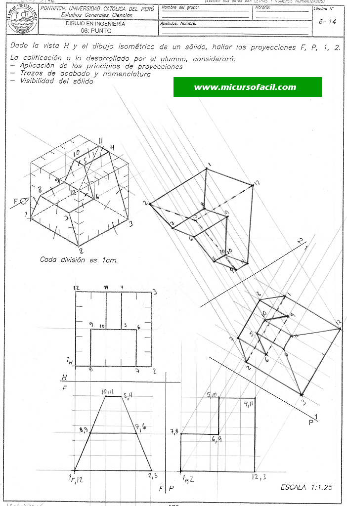 Dibpunto99 Si1 Png Geometria Descriptiva Geometria Ingenieria