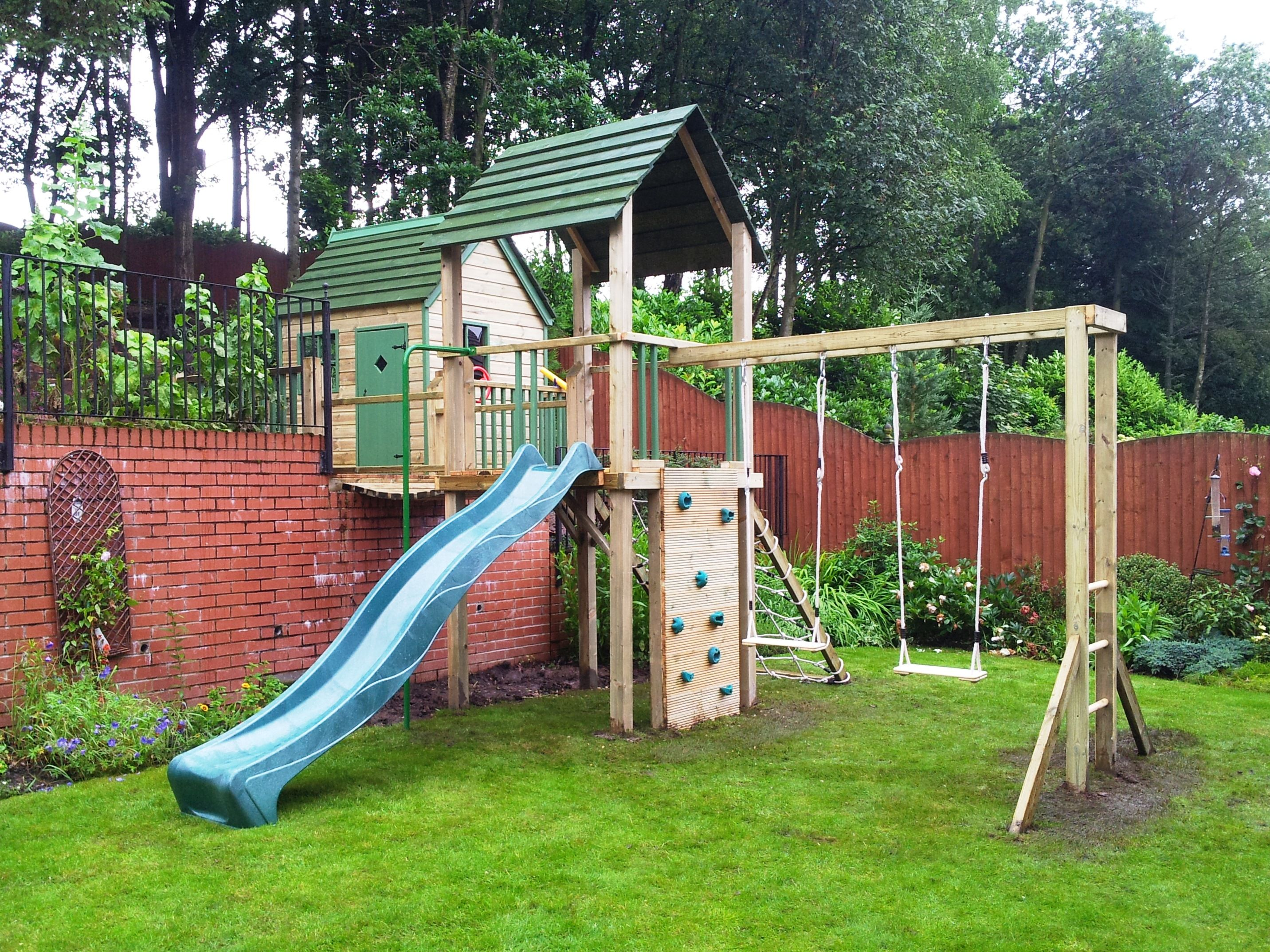 Playways have been making wooden playhouses and climbing for Kids outdoor playhouse
