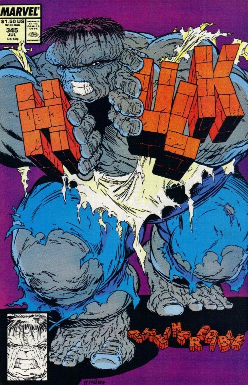 The Incredible Hulk #345 July 1988. Cover Artist : Todd McFarlane ...