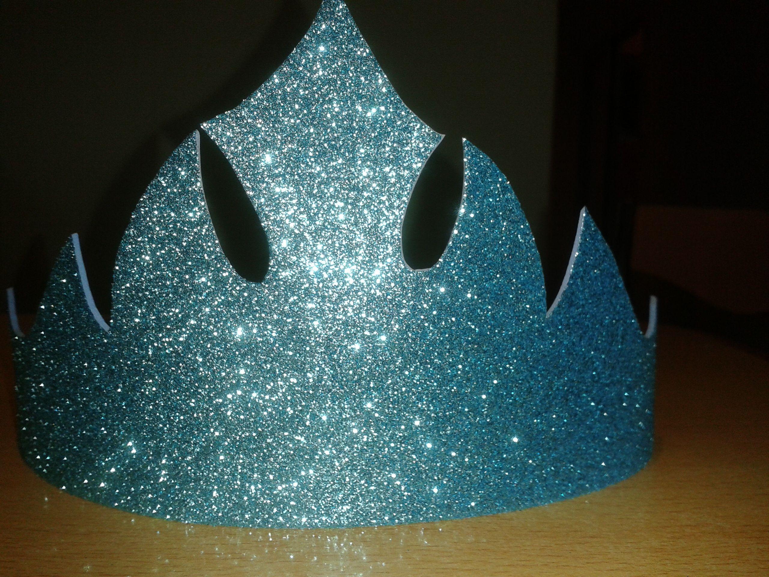 Corona Elsa Frozen de coma eva glitter | tartas | Pinterest | Elsa ...
