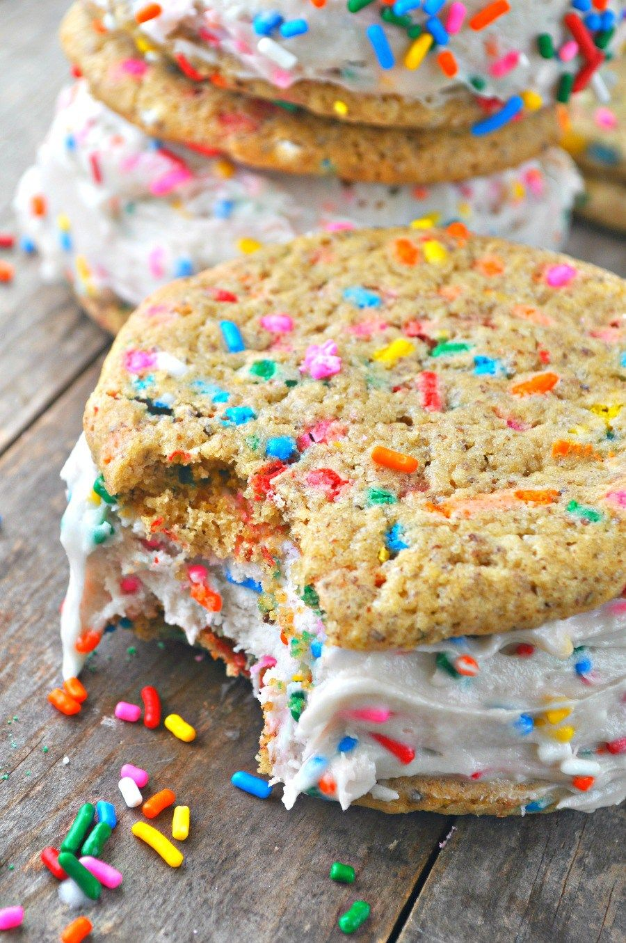 Vegan Birthday Cake Ice Cream Sandwiches Recipe Vegan birthday