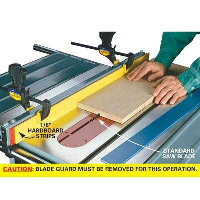 Create dado cuts without a dado blade on your table saw diy tips create dado cuts without a dado blade on your table saw greentooth Choice Image