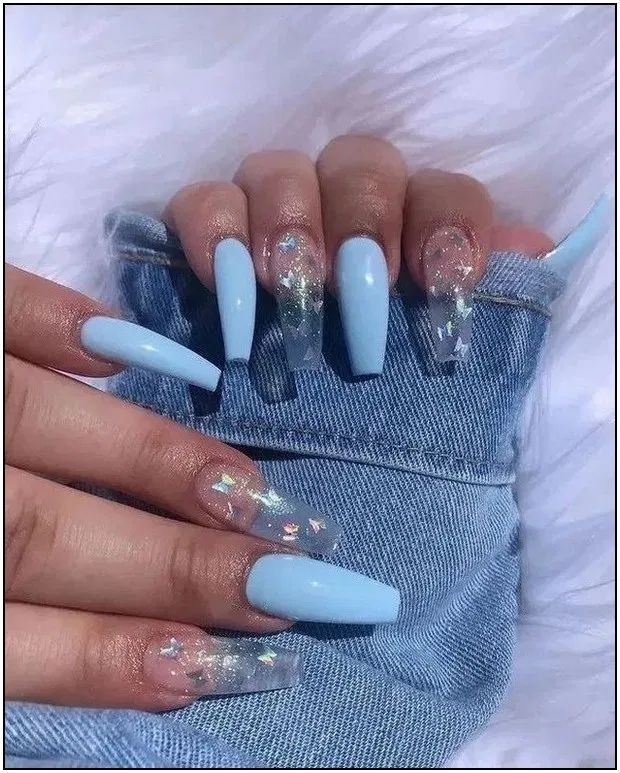 30 Nails Designs Inspirations In 2020 Nails After Acrylics Best Acrylic Nails Blue Acrylic Nails