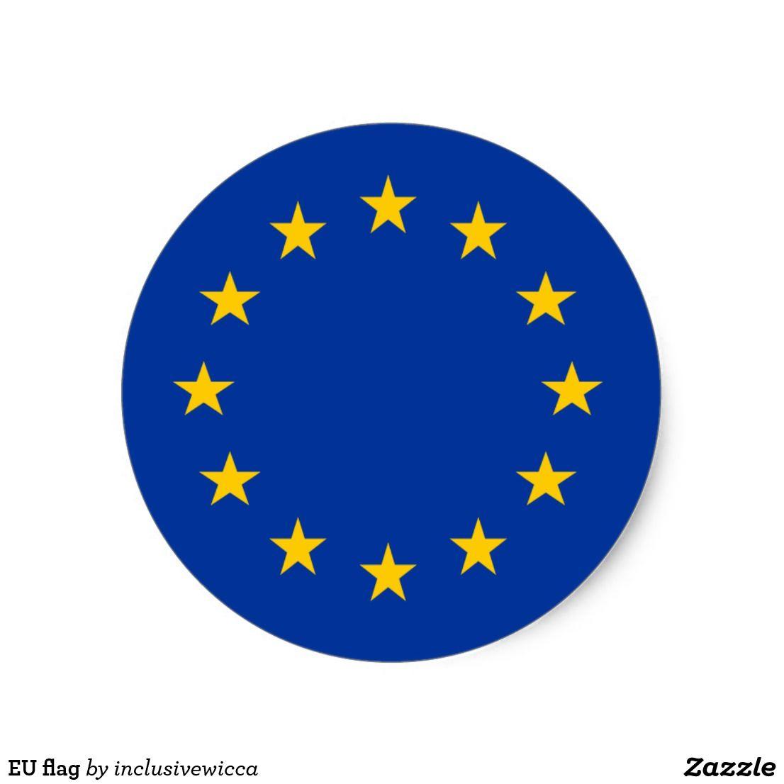 Eu Flag Classic Round Sticker Zazzle Com 로고