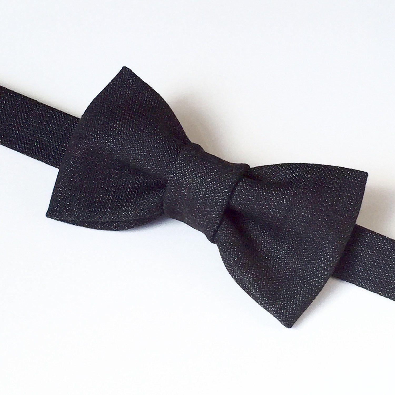 0d7c87024796 Men's Denim Bow tie, Dark Denim Bow tie, Dark Blue Bow tie, Jean Bow tie,  Pre-tied Bow tie, Denim Bowtie, Jean Bowtie