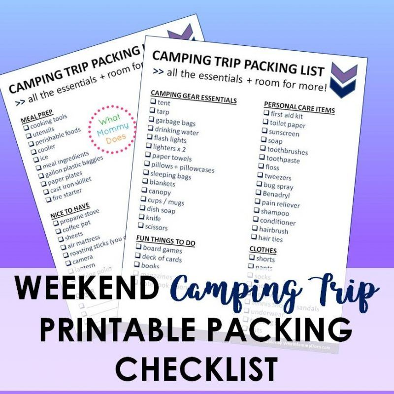7 Things You Shouldn\u0027t Forget to Pack When Camping WITH KIDS - camp budget spreadsheet