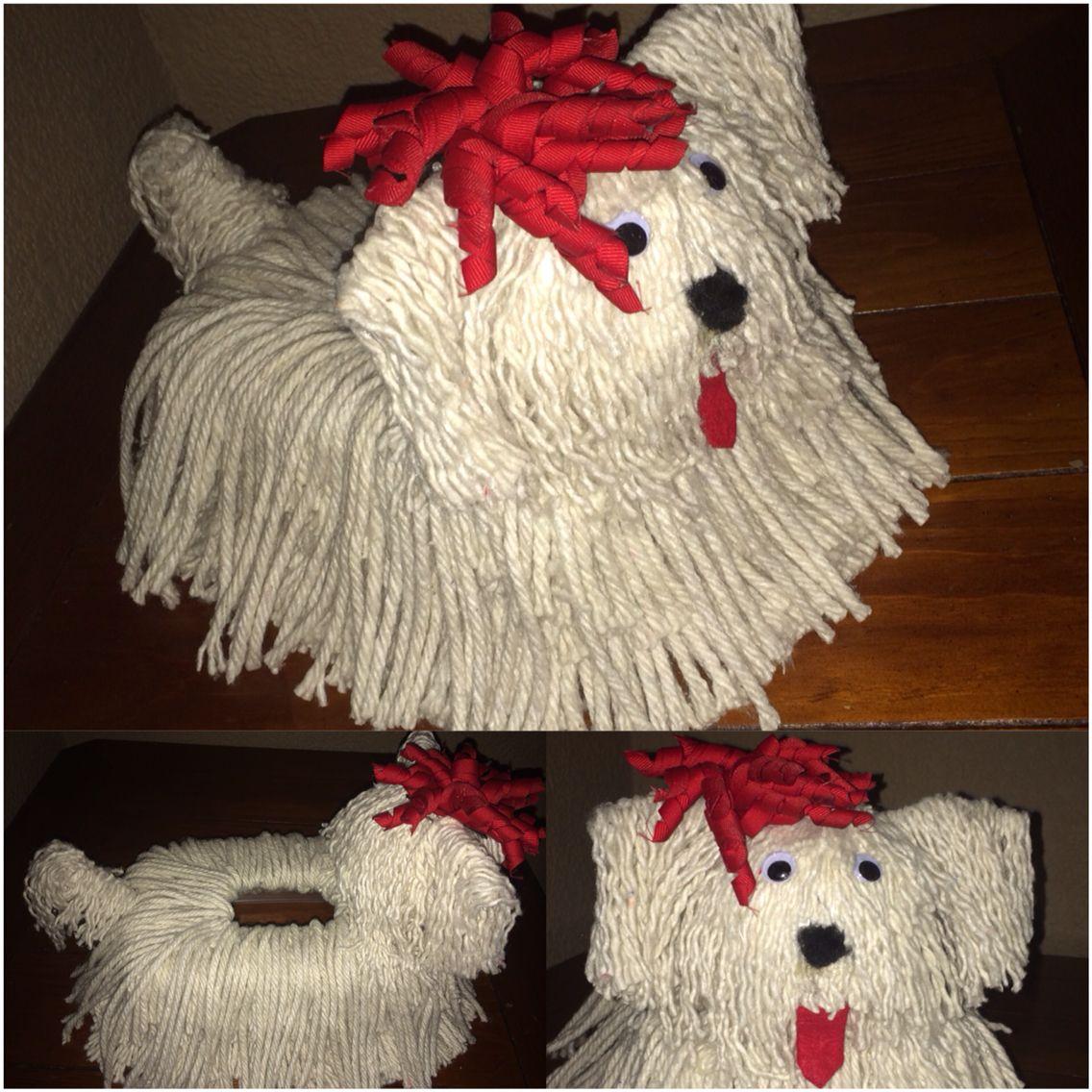 Mop dog Valentines card box  Crafts  Pinterest  Mop dog