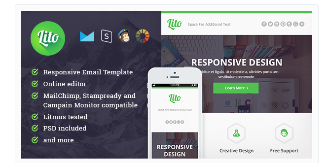 21 New Responsive Email Newsletter Templates | New Responsive Email ...