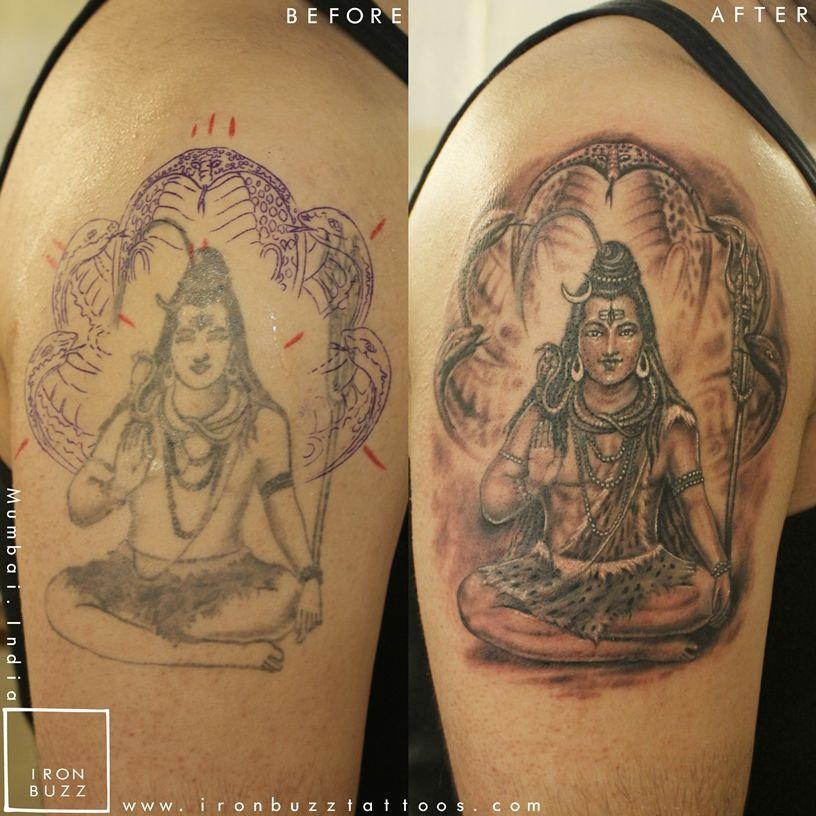 best lord shiva mahadev tattoos done at iron buzz
