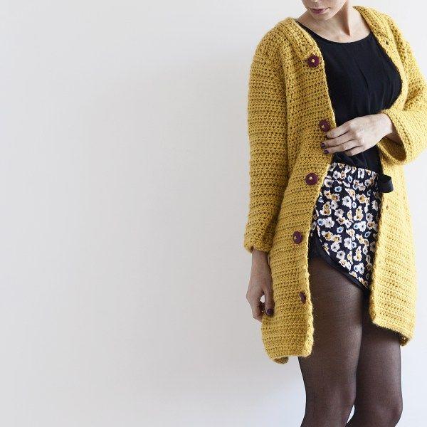 Patrón abrigo kimono ganchillo (PDF Descargable) | ganchillo ...