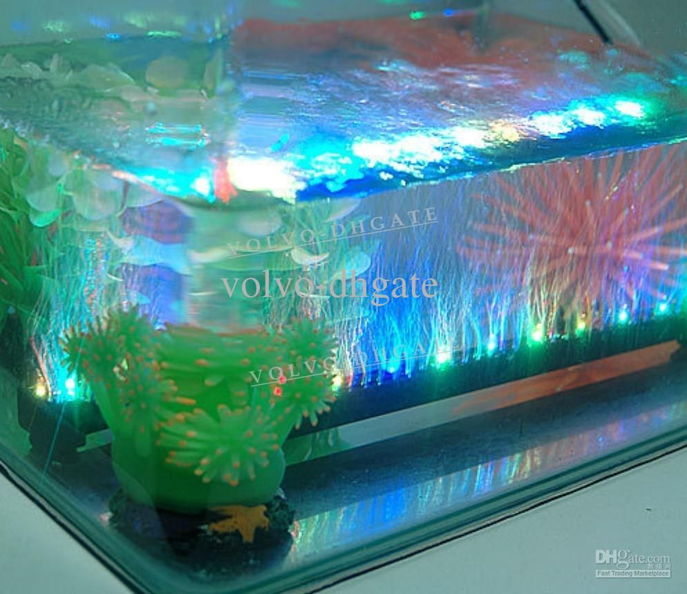 Multi color led aquarium light 12 leds 1 5w 31cm led fish for Fish tank lighting