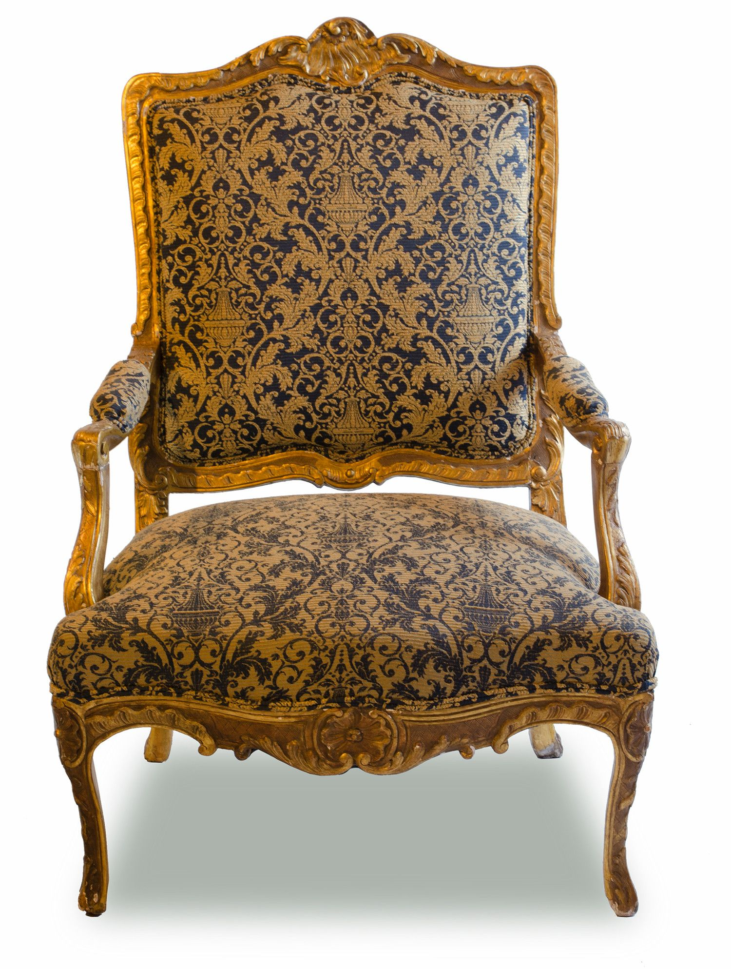 Antiques Antique Victorian Armchairs Louis Xv 1830-1860