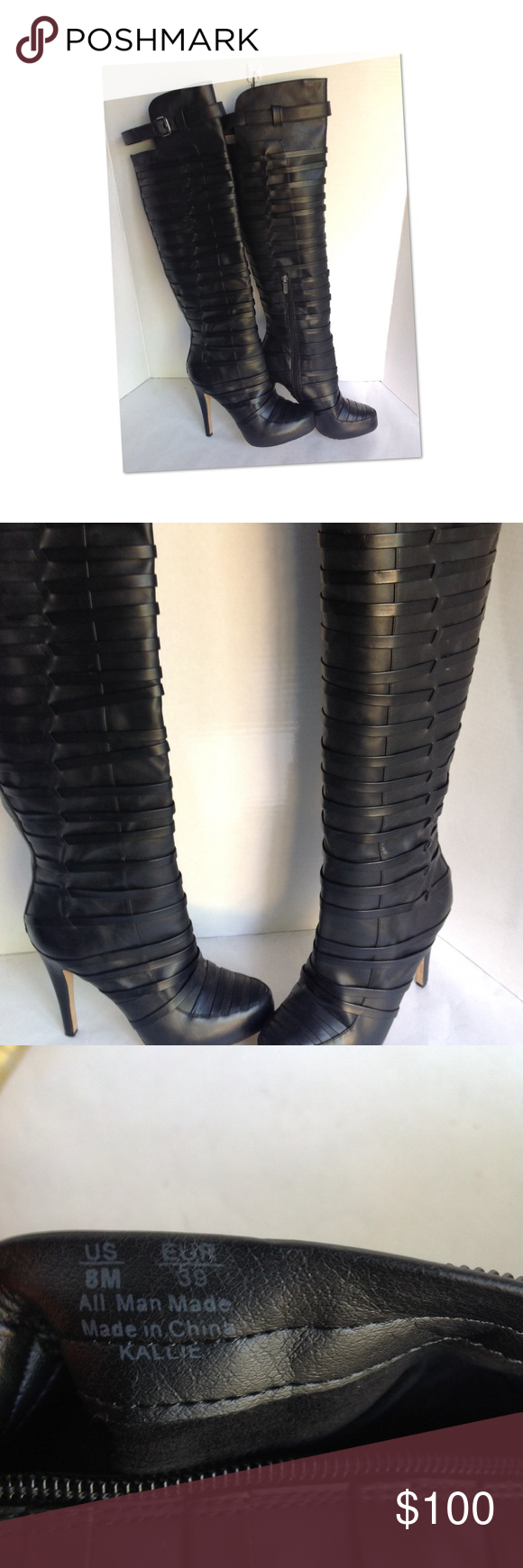 5e2c93468c487d KALLIE IN BLACK SMOOTH CIRCUS BY SAM EDELMAN EXCELLENT used condition