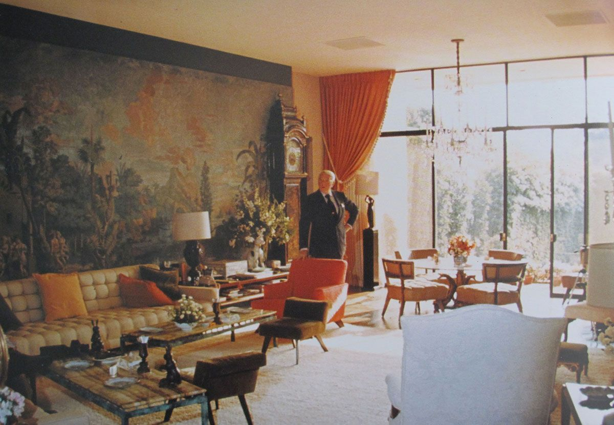 william haines' 1970's take on hollywood regency revival, which he