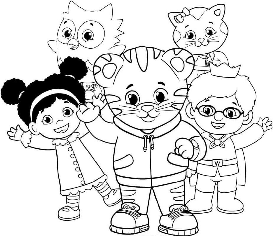 Free Daniel Tiger Coloring Pages To Download Educative Printable Owl Coloring Pages Daniel Tiger Birthday Coloring Pages