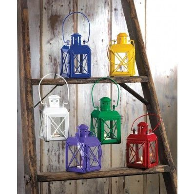 Colored Railway Lantern Candle Holder Bundle